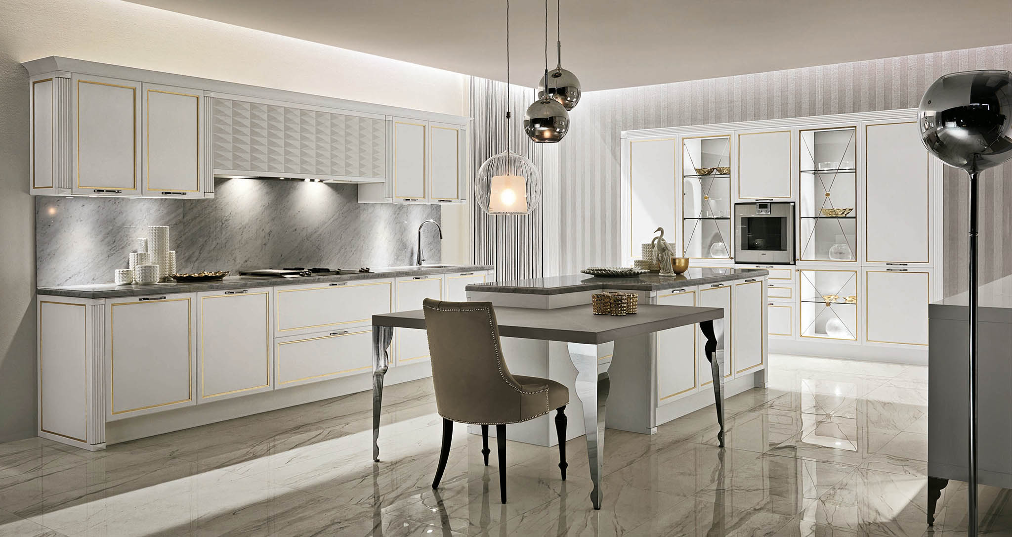 Кухня 05 Luxury Glam фабрика Aster cucine